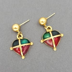 Anne Klein Multi Colored Enamel Drop Earrings